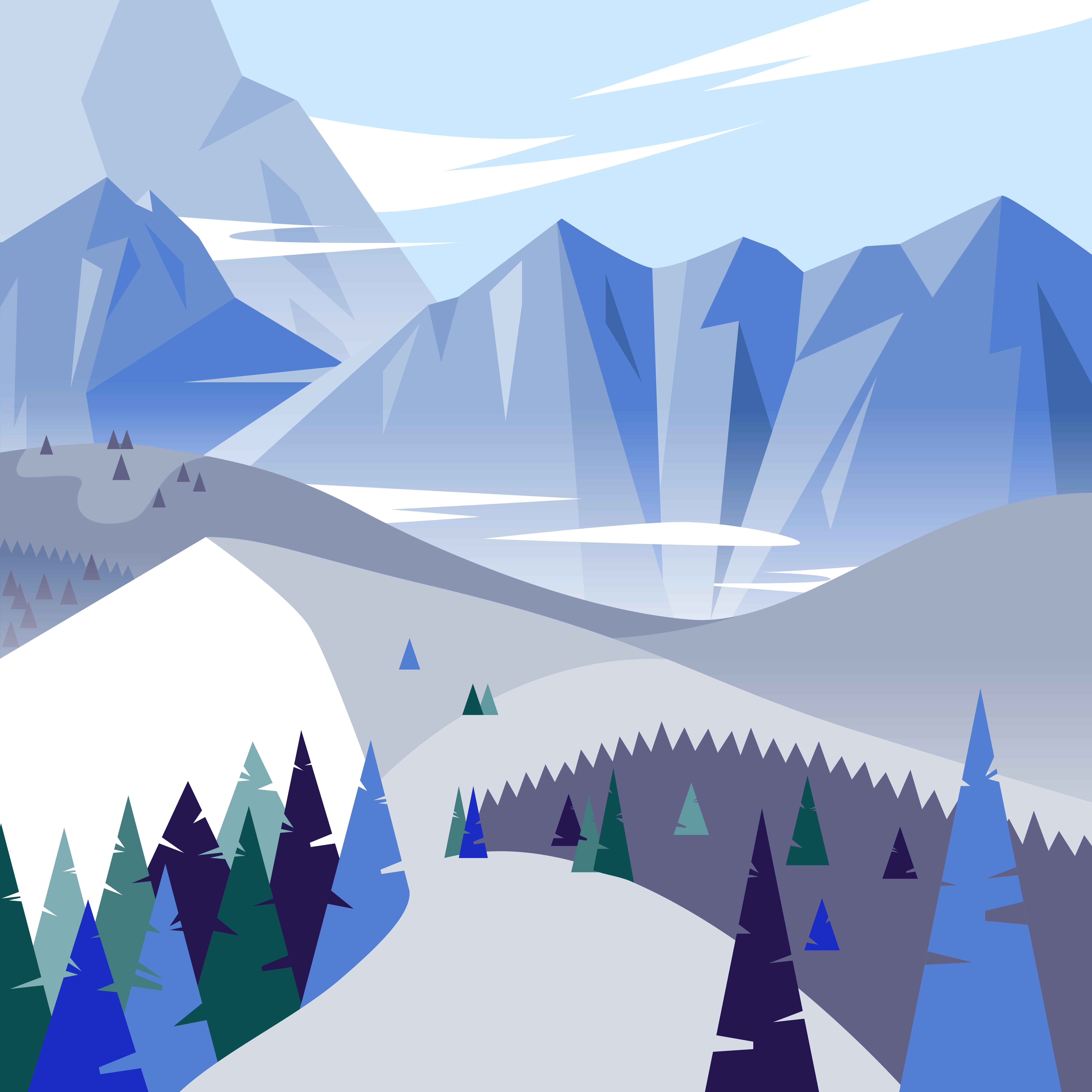 Illustration vectorielle de montagne
