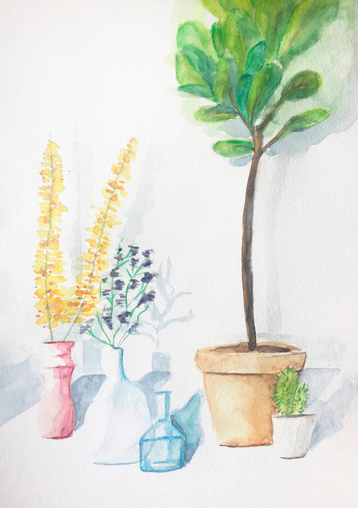 Plantes à l'aquarelles
