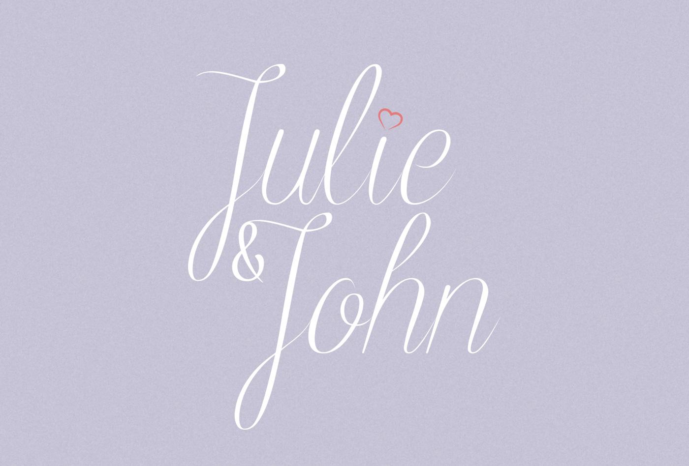 Logo du mariage de Julie et john